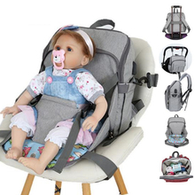 USB Dining Chair Waterproof Diaper Bag for Mom Maternity Nappy Backpack Baby Stroller Organizer seat Nursing Changing Bag Care
