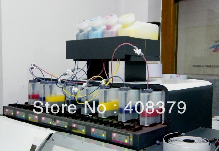Double 4 color bulk ink system with permanent chip for Mimaki JV33 JV5 JV3 printer ( 4tanks+8 cartridges+ 8 permanent chip)