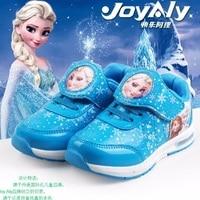 New Fashion Beauty Children S Shoes Girls Elsa Anna Cartoon Running Sneakers Kids Flat Sneaker For