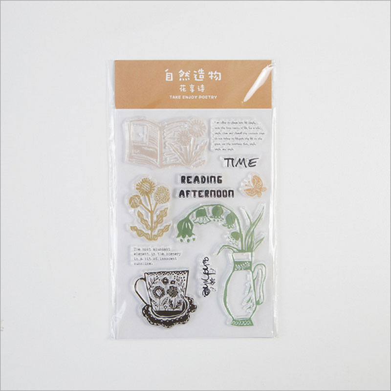 Take enjoy poetry silicone transparent Clear Stamps for scrapbook DIY Photo album Rubber
