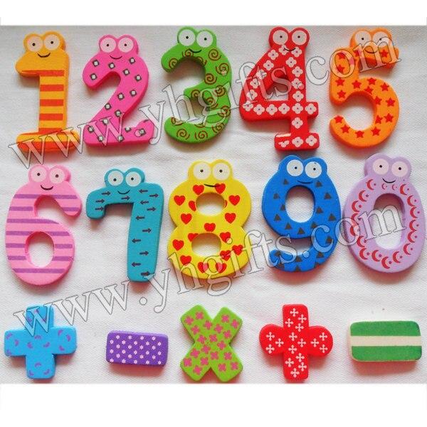 15 шт./партия. дерево 0-9 числа магнит на холодильник, математика цифровой наклейки, Игрушки для раннего развития, украшения дома, наклейки хол...