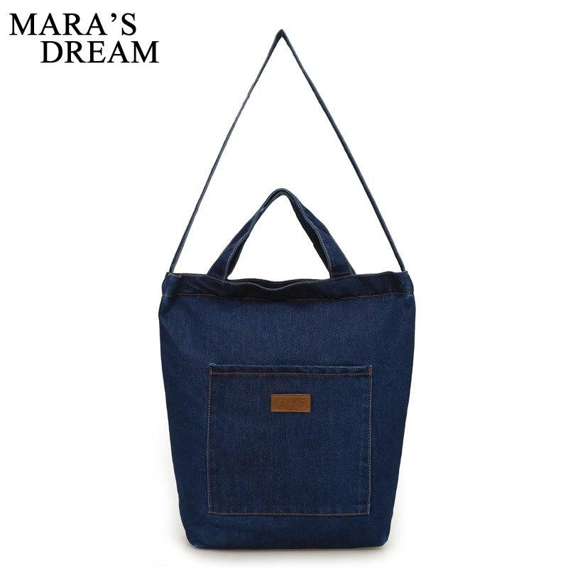 Maras Dream New Women Messenger Bags Denim Shoulder Bag Handbags Shoulder Bag For Girls Casual Travel Bags Bolsos Sac A Main