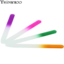 4PCS/set Professional Glass Buffer Durable Crystal glass Nail File Buffers Assorted Color Manicure Beauty Device Tools