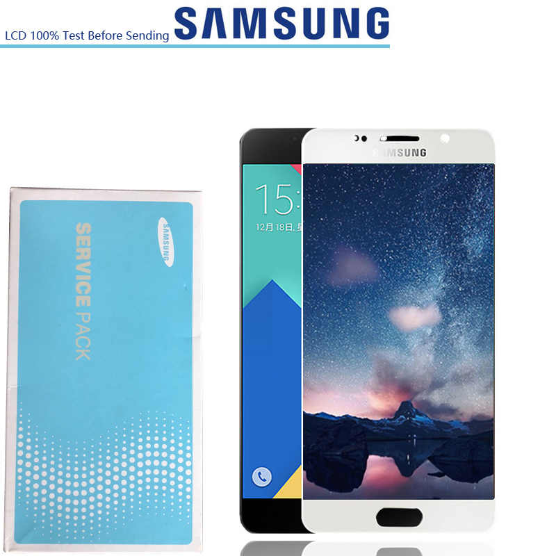 ใหม่ Super AMOLED Display สำหรับ SAMSUNG Galaxy A5 2016 LCD A510 A510F A510M A510FD Touch Screen Digitizer Assembly