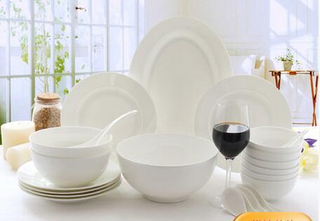 Костяного фарфора набор посуды 22 шт. череп Фарфор Главная корейский керамическая чистый белый блюда, тарелки