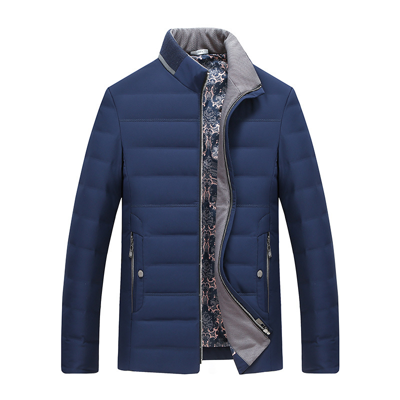 New 2018 autumn winter down coat men stand collar thick warm white duck down jacket male outerwear plus size M - 7XL