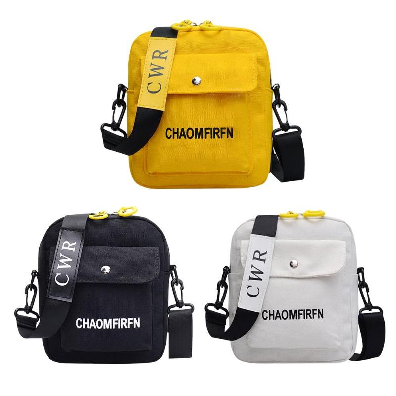 Letter Print Outdoor Sports Shoulder Messenger Handbags Casual Women Men Canvas Crossbody Bags 2019 Hot Selling