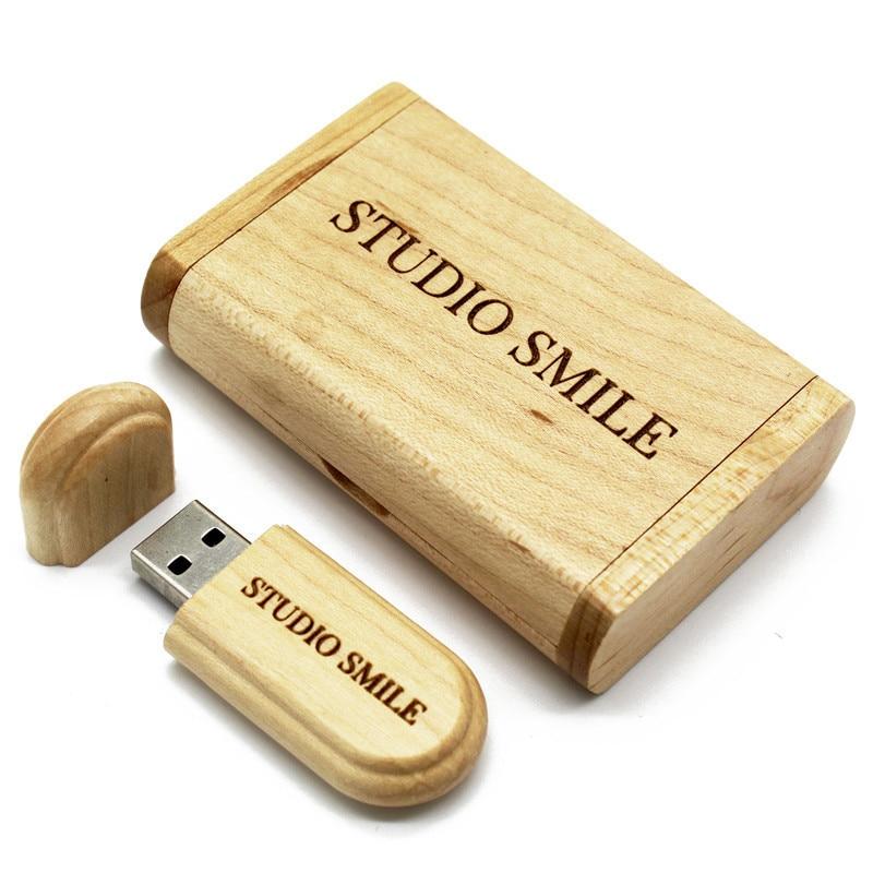 BiNFUL Real Capacity  Wooden 64gb 32gb 16gb 8gb USB 2.0 Flash Drive Memory Stick Packing Box Pendrive
