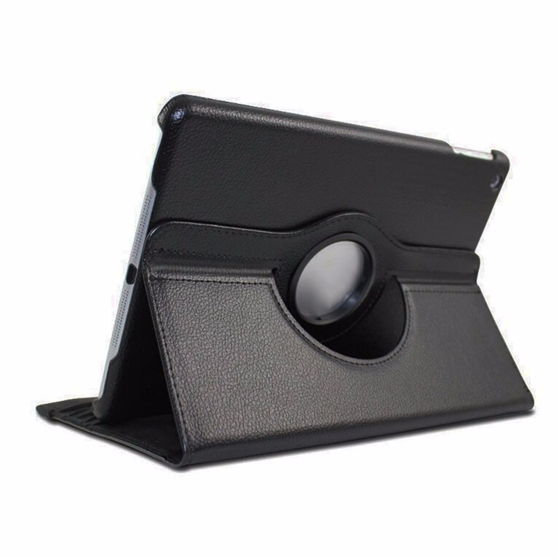 Aluminum Alloy 360 Degrees Rotating Leather Stand box Cover  Bluetooth Wireless Keyboard For iPad Air 2 3 4 Black NEW aluminum alloy metal removable wireless bluetooth 3 0 keyboard stand leather case cover for apple ipad mini 1 2 3 7 9 inch table