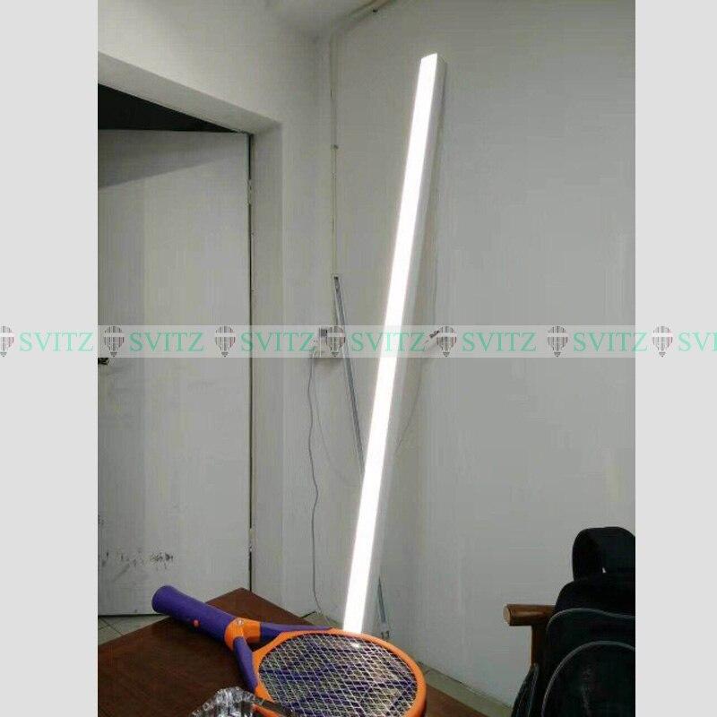 Led escritório Luz Pingente moderno luz de tira retangular Hanglamp modelagem lâmpadas do corredor varanda corredor luzes de linha de pesca - 5