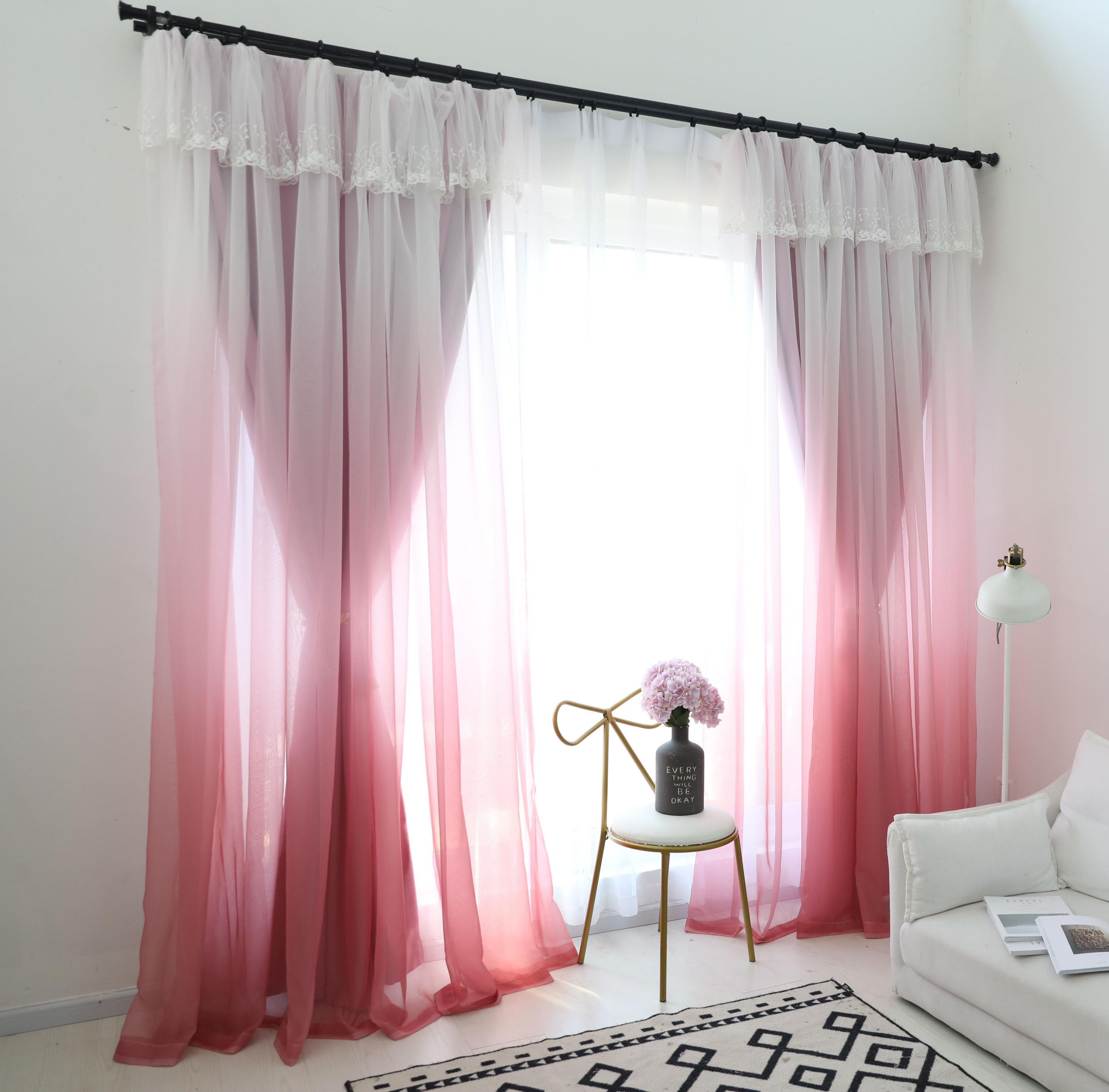Double Layers Lace Princess Curtain Curtains For Living Room ...