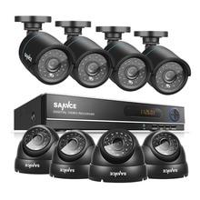 SANNCE 8CH CCTV Camera System AHD CCTV DVR 8PCS 1.0 MP IR Outdoor Security Camera 720P 1200 TVL Camera Surveillance System