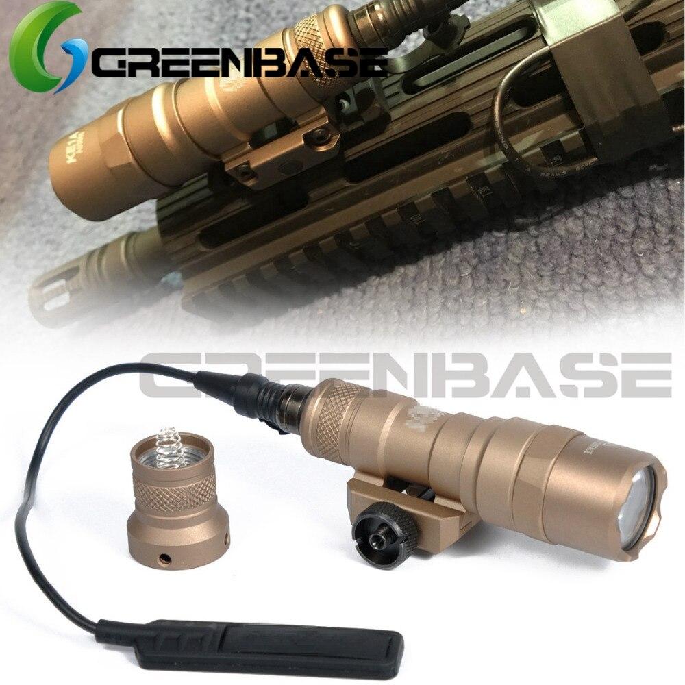 Greenbase SF M300 Tactical LED Light M300B Mini Scout Light Constant / Momentary 2 Modes 400 Lumens White Light Output 20mm Rail