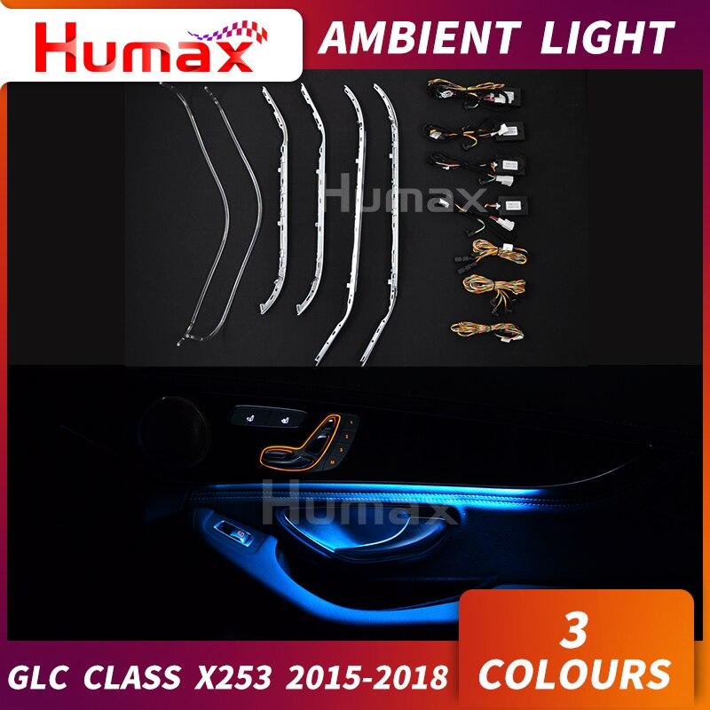 Pour GLC classe X253 GLC200 GLC250 GLC300 panneau de porte LED lampe ambiante atmosphère éclairage console centrale pièce lumière LED voiture tuning