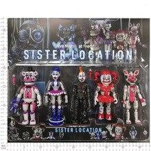 Nuovo Arrivo Cinque Action Figure Toy Foxy delle Notti A Freddy Freddy Fazbear Orso FNAF PVC Figure di Giocattoli Per Bambini Per regalo di Giorno dei bambini
