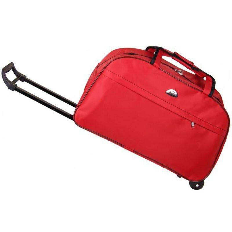 Bolsa de viaje impermeable de gran capacidad 2019 moda Casual estilo grueso maleta con ruedas equipaje para mujeres hombres estudiantes