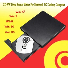 Professional USB 2.0 External CD DVD Combo CD-RW Drive Burner Writer For Notebook PC Portable SATA External Case Slim for Laptop