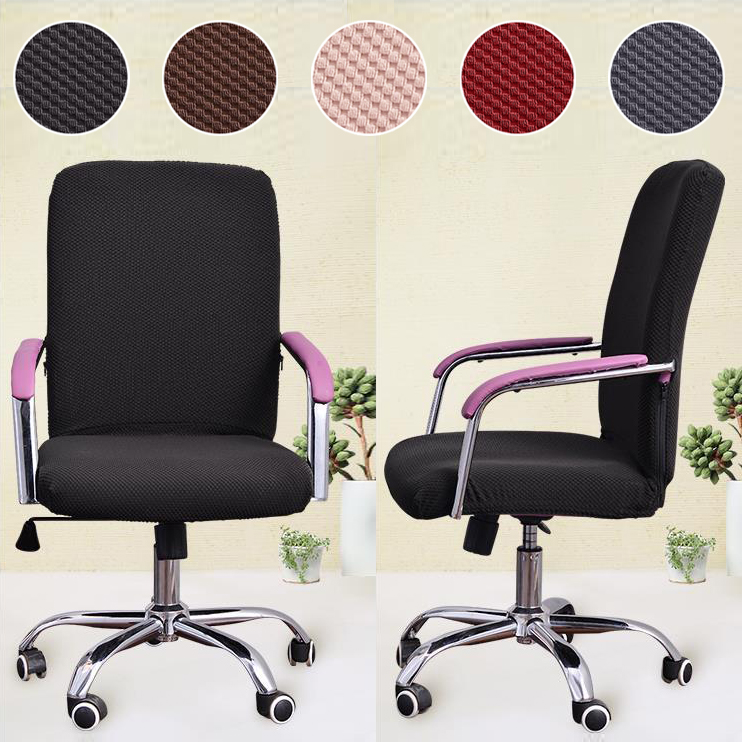 Jacquard Fabric Office Chair Cover With Zipper Computer