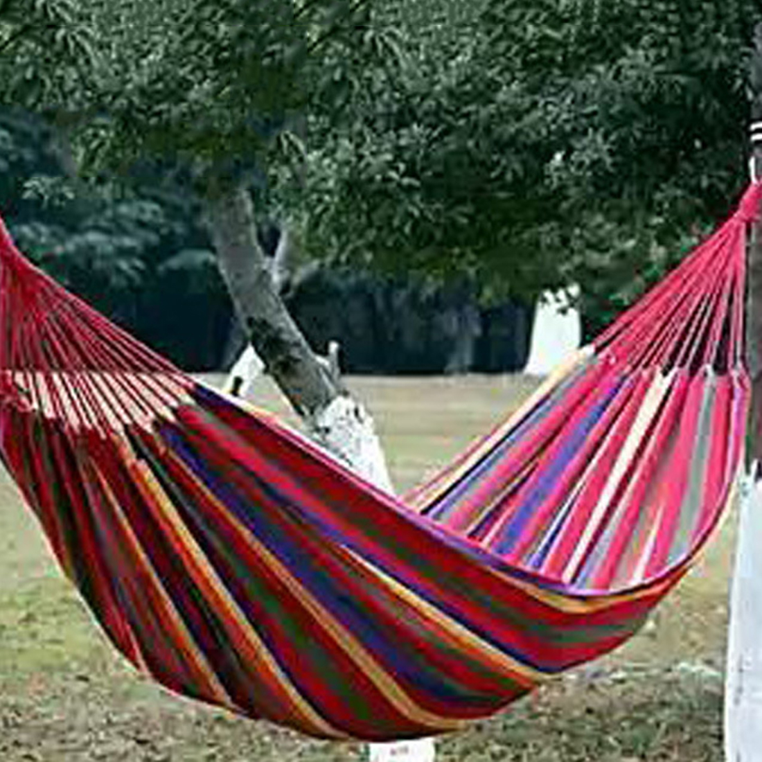 High Quality Portable Outdoor Garden Hammock Hang BED Travel Camping Swing Canvas Stripe NVIE 280*100cm
