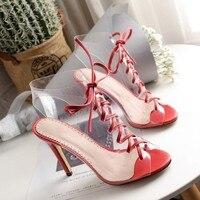Большие размеры 9, 10, 11, 12, 13, 14, 15, босоножки на высоком каблуке, женская обувь, женские летние босоножки с острым носком на толстом каблуке