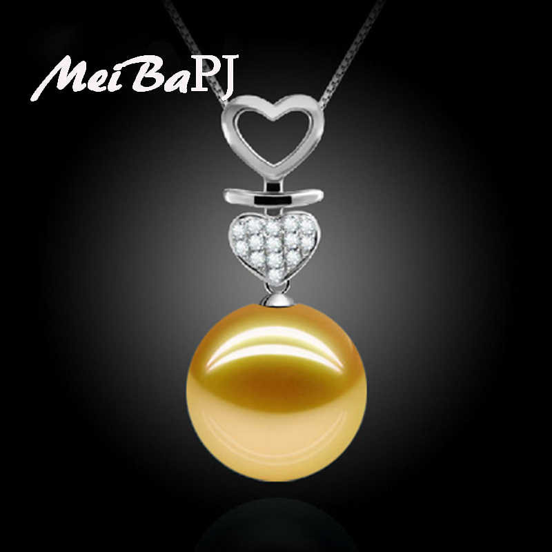 MeiBaPJ Moda 3 Cores Rodada Shell Pearl Pendant Necklace para Mulheres AAA Zircon Butter'f'l'y Charme Pingente Partido Jóias