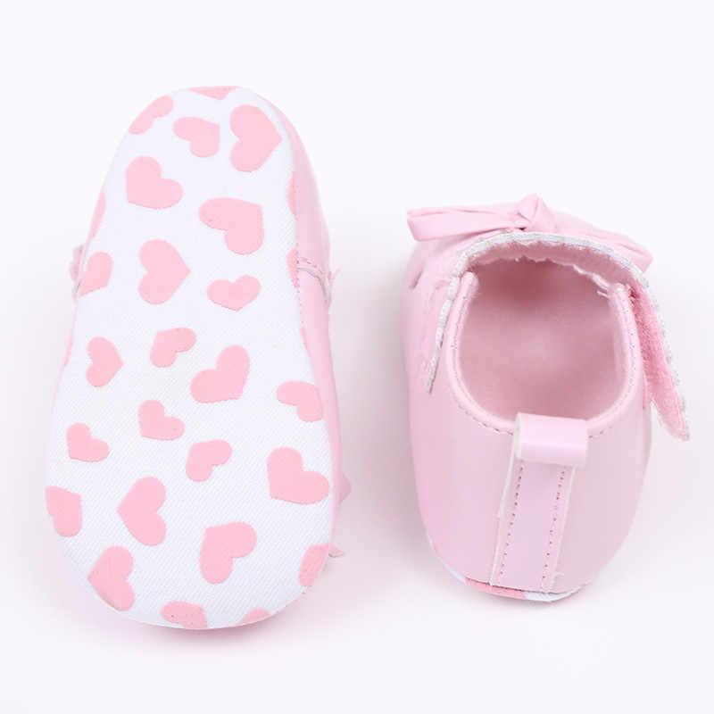 Arloneet 2019 chegada mais recente recém-nascido bebê meninas berço sapatos sola macia anti-deslizamento tênis bowknot sapatos n04