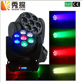 Venda quente LEVOU Feixe de Luz Em Movimento Da Cabeça 7x12 w 36 pcs 3 w RGBW RGBW 4in1 Super Brilhante moving Head LED feixe de luz dj equipamentos