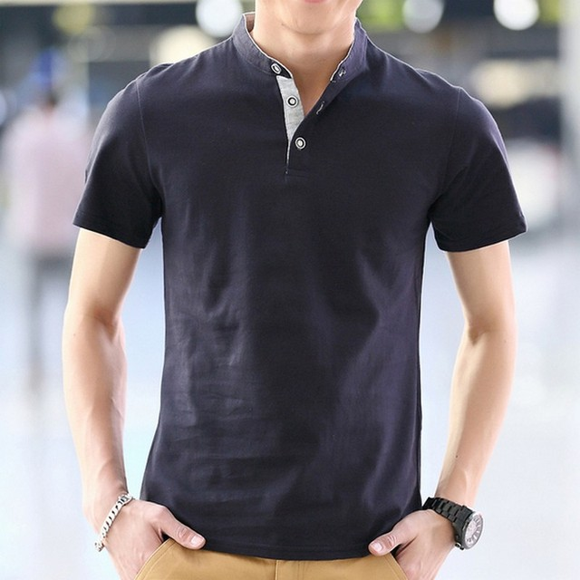 2016 Summer Male Short-Sleeve Polo Shirt Stand Collar Slim Fit Mens Basic Polo Casual Polo Ralphmen
