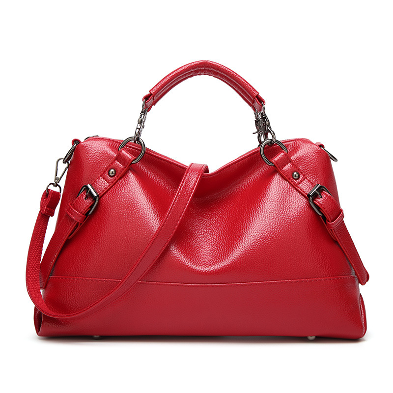 Women Handbags Handbag Pu Leather Handbags Black Vintage Shoulder Bag High Quali