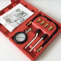 Motore a benzina Manometro Kit Tester di Compressione Set di Perdita di Diagnostica Compressometer Strumento Per Auto Strumento di Diagnostica Con Il Caso|Set di attrezzi manuali|Attrezzi -