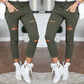 Women Jeans Skinny Pencil Pants Ripped Denim skinny sexy Bottom Female Trousers Slim pants Summer leggins Cotton High Elastic