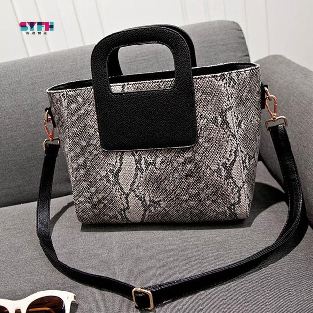 Hot Sale Fashion Women Handbag Lady PU leather Crossbody Shoulder Bag Snake Pattern Luxury Brand Women Messenger Bags Tote