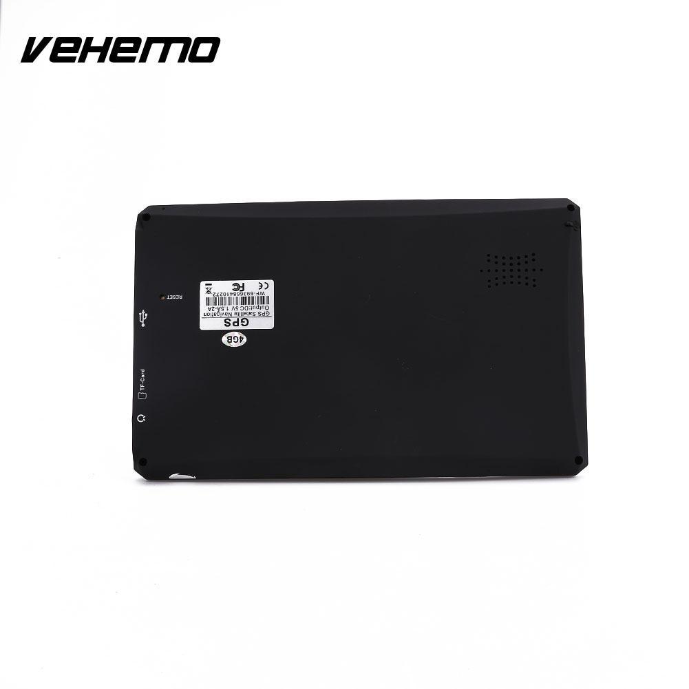 Vehemo автомобиль 7 HD ЖК-дисплей Сенсорный экран Бесплатная ЕС Географические карты навигатор Nav FM воспроизведения видео Портативный