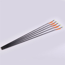 6/12 / 24pc Pure Carbon Arrow Spine 400 Pure Carbon Arrow Shaft OD 7mm arrow, outdoor hunting archery for composite, recurve bow