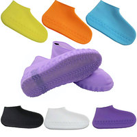 Водонепроницаемая непромокаемая обувь покрывает силиконовую обувь многоразовые непромокаемые сапоги для взрослых детей Нескользящая мою...