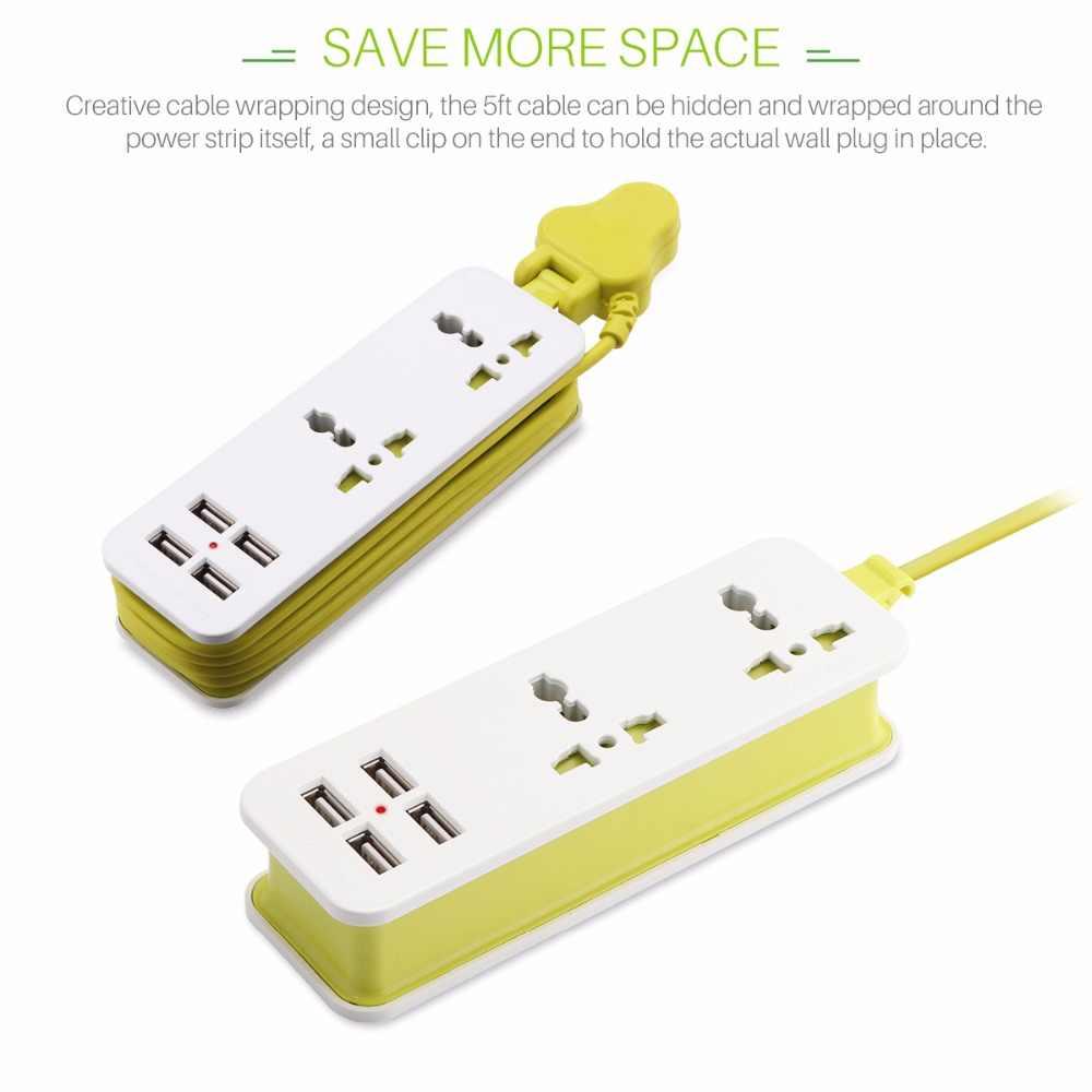 Ổ Cắm mở rộng Outlet UK Cắm với 4 USB Thông Minh Sạc Du Lịch Xách Tay Power Strip Surge Protector cho Máy Tính Xách Tay Camera Tablet