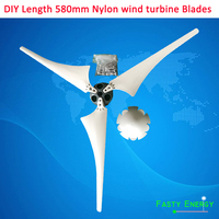 New arrival 580mm high strength Nylon blades for horizontal wind turbine 400w DIY blades for wind generator