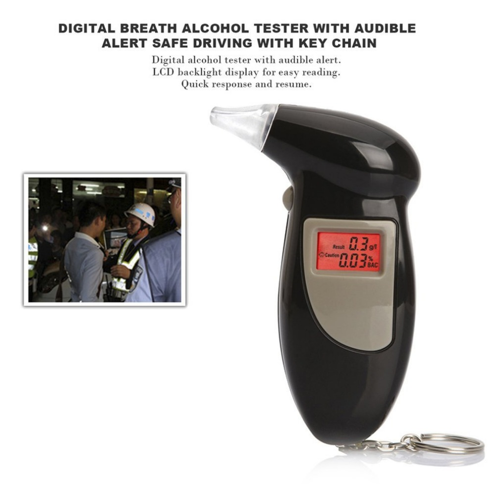 Digital Breath Alcohol Tester With Audible Alert Safe Driving Flasher Warning Getsubject Aeproduct