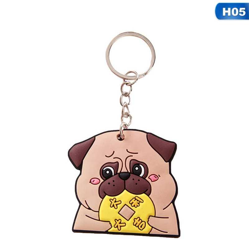 Милые брелоки Животные Мягкий резиновый Милый Панда кошка собака обезьяна брелок для женщин сумка автомобиль талисманы брелок подарки на удачу игрушки