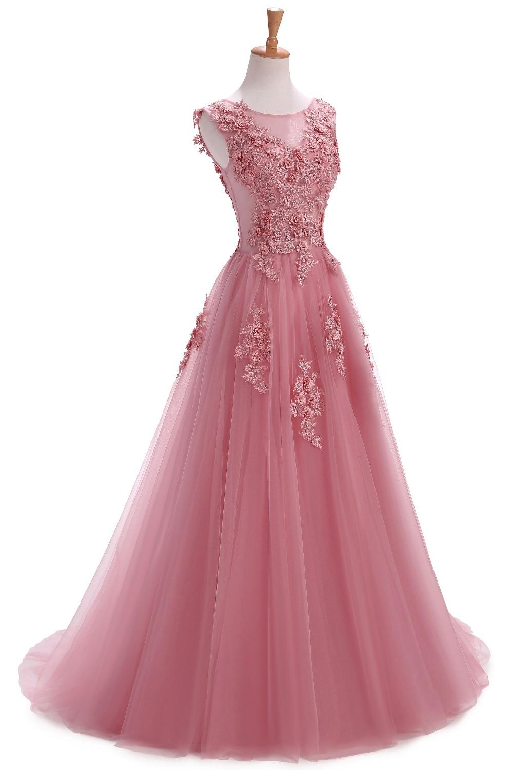Szata De Soiree Suknie Wieczorowe Długi Plus Rozmiar Tiulu Prom Lace - Suknie specjalne okazje - Zdjęcie 3