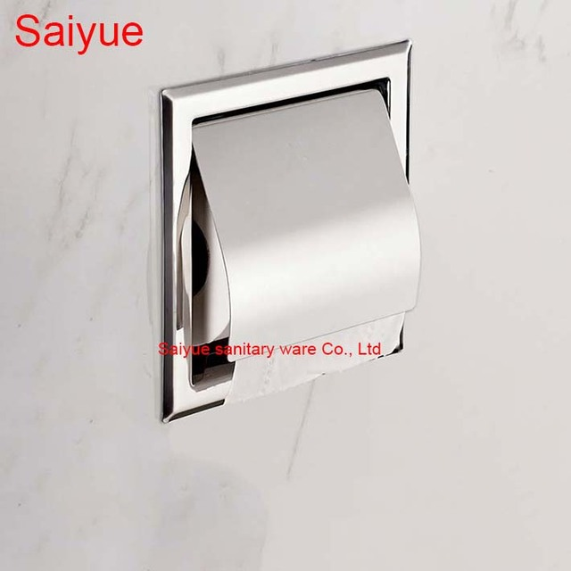 Concealed wall Mounted Bath Accessories 304 Stainless Steel Mirror ...