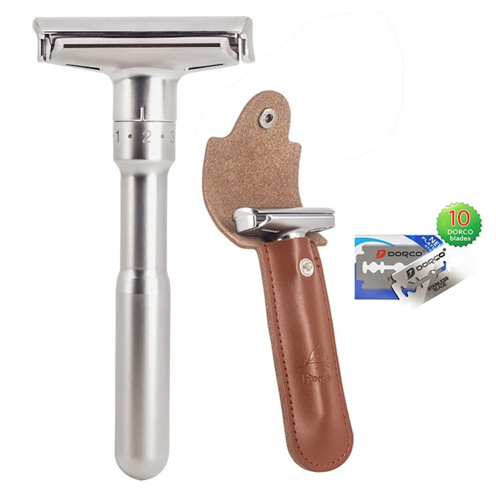 Safety Razor Straight Razor For Men Adjustable  Close Shaving Classic Double Edge Razor Blades Knife Replacement Shaving Set