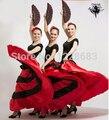 New 2015 Black Red 5 Styles Performance Long Skirt Flamenco Dresses For Girls Women Flamenco Costumes