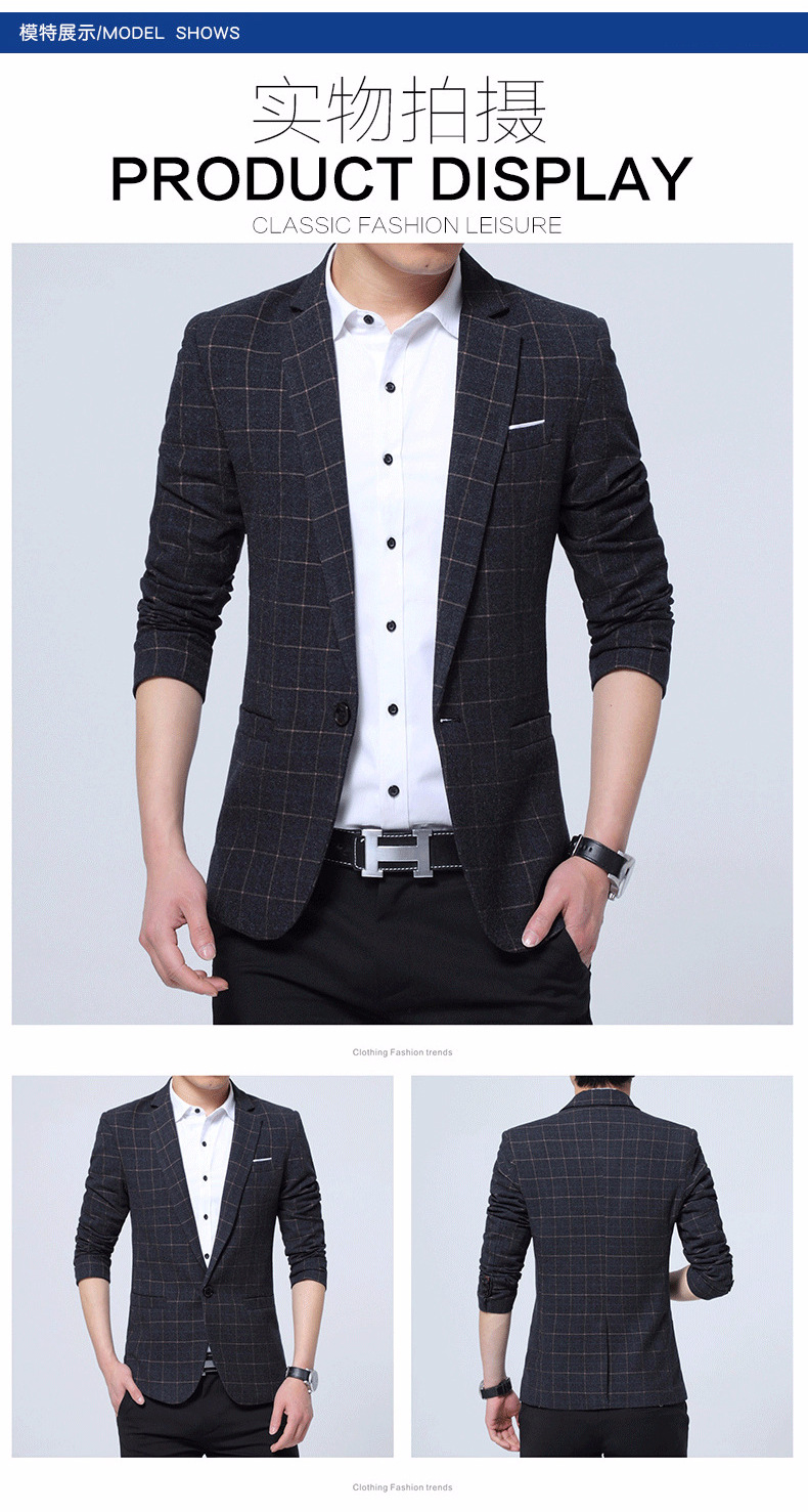 Compre Moda De Invierno Fleece Blazer Para Hombre Chaqueta Informal A Cuadros Hombres Blazer Chaqueta De Hombre Clásico Para Hombre Traje Chaquetas