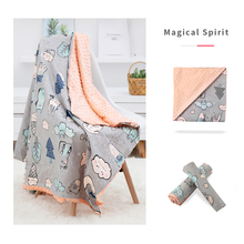 Newborn Baby Blanket Infant Bebe Polar Dot Swaddle Wrap Envelope Blankets For Kids Cartoon Bedding