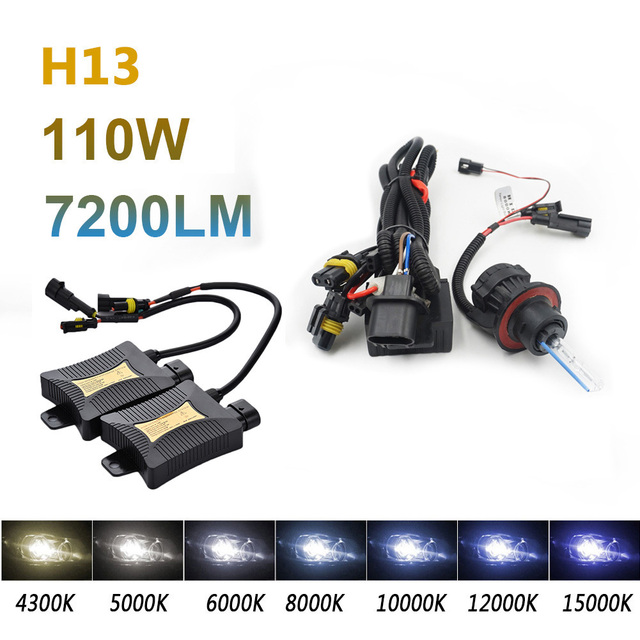 2pcs 55W H13 9004 9007 Xenon HID Light Set Double Beam DC330 4300k 6000k 8000k Auto Car Source Headlight