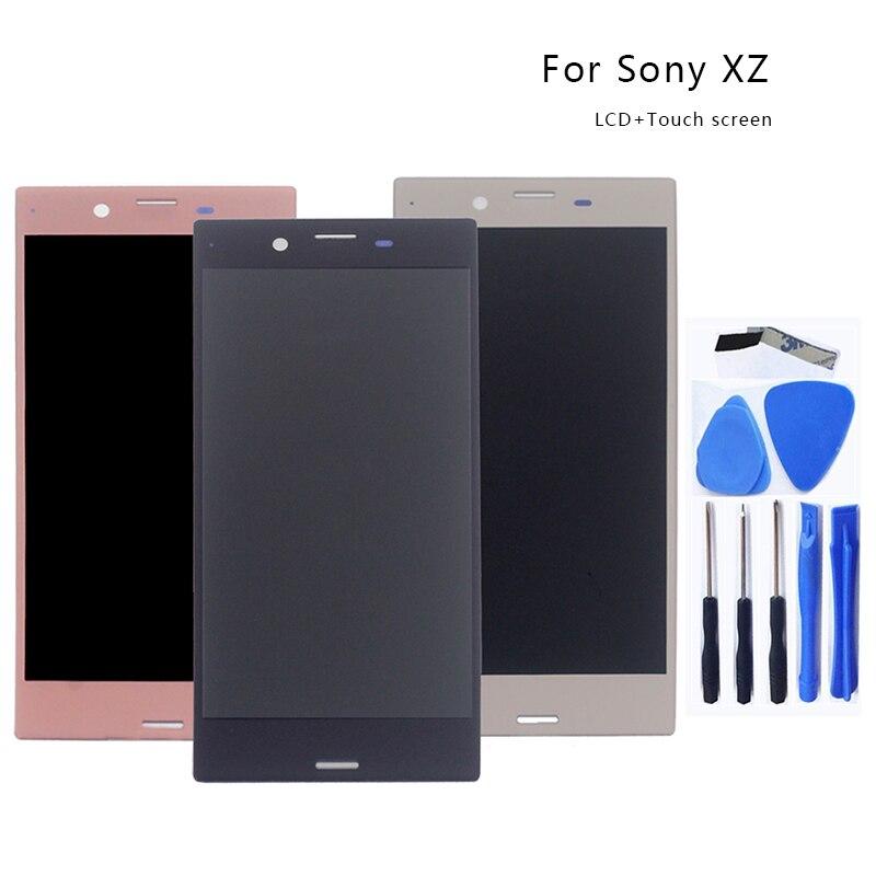 Pour Sony Xperia XZ F8331 F8332 LCD moniteur numériseur assemblée verre Sony Xperia XZ écran LCD moniteur avec cadre outil gratuit
