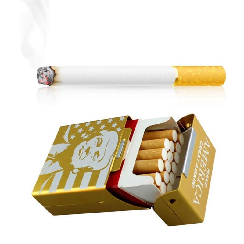 1PC Trump Smoking Cigarettes Car Accessories Aluminum Cigare