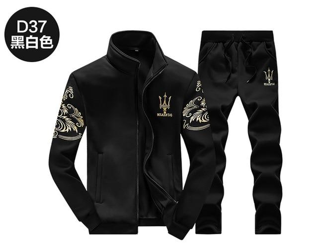 2 PCS! BAOLONG BRAND Fashion Sporting Suit men winter jacket Causal Male Tracksuit Sportswear Sweatshirts Hoodie