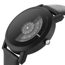 Unique Women Watch Stylish Leather Strap Modern Quartz Watches Turntable Women Men Special Design Wrist Watch Trendy Relogio
